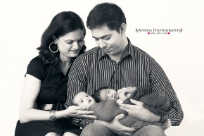 Newborn Photography Dallas - The Twins with Doting Parents