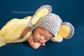 Newborn Photography - yellow eared cute elephant