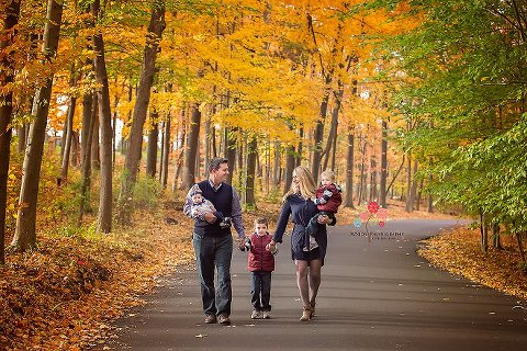 Fall Photography NJ - The joy of photographing a family with the beautiful fall colors all around us