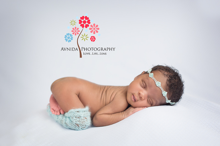 Calm in light and blue for newborn photography princeton nj
