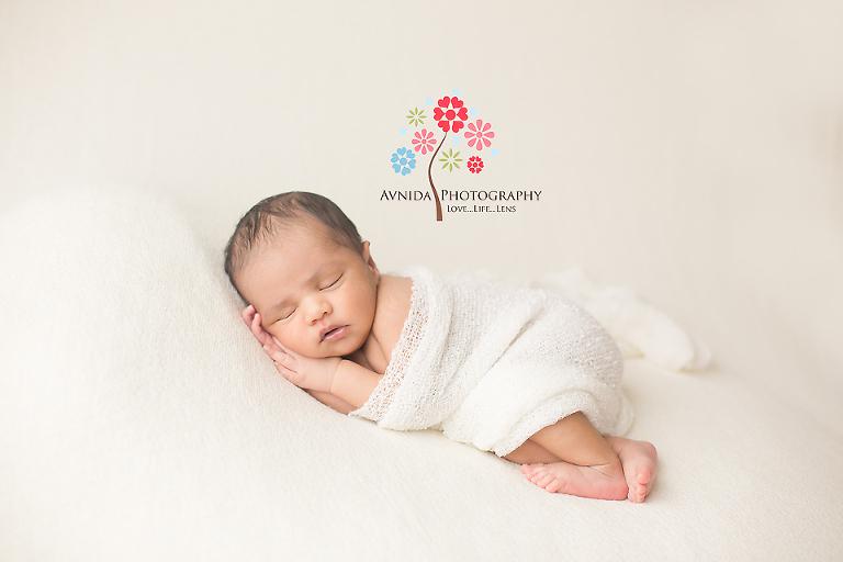 Bridgewater newborn photography nj baby in white