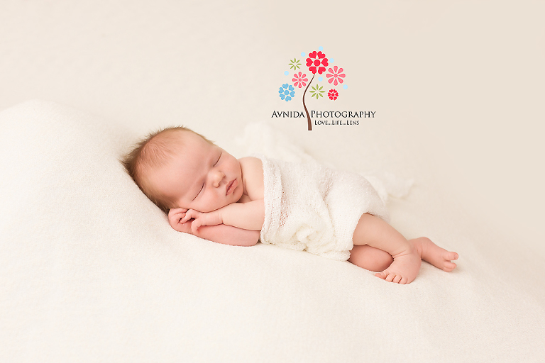 Newborn photography basking ridge nj sleeping sideways