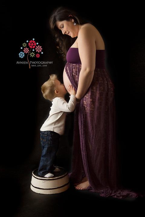 Maternity Photography Flemington NJ - Kissing Mom's Belly