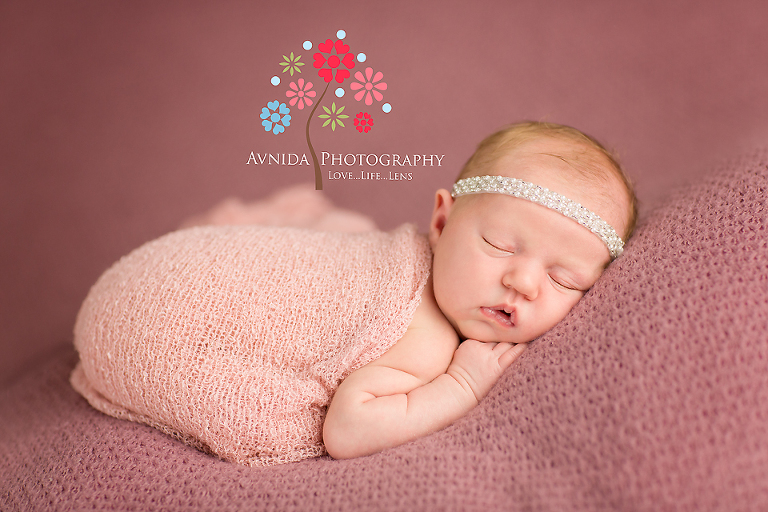 Newborn photography clinton new jersey pretty in pink