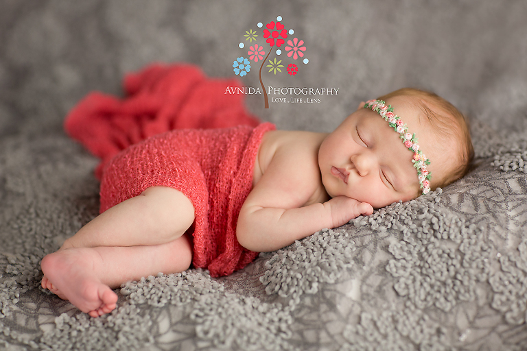 Newborn photography clinton new jersey charming in red