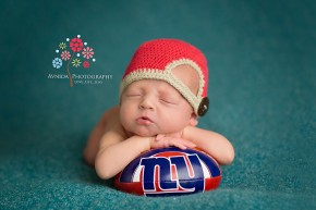 Newborn Photography Bedminster Township NJ - with the Giants football