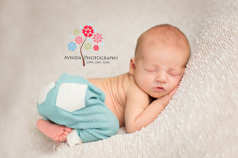 Newborn Photography Bedminster Township NJ - looking good in green