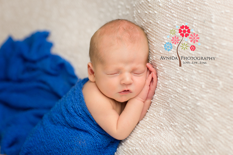 Newborn Photography Bedminster Township NJ - dashing in blue