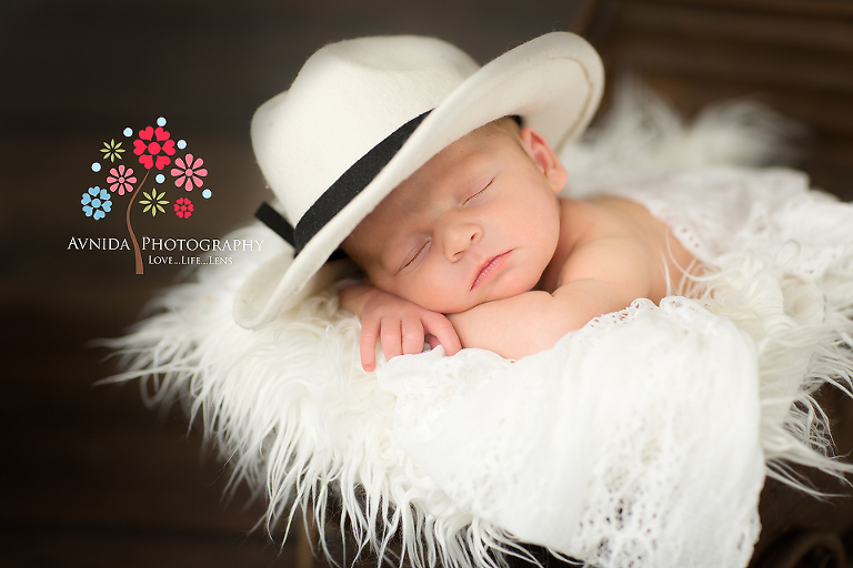 Newborn Photography Bedminster Township NJ- handsome in a hat