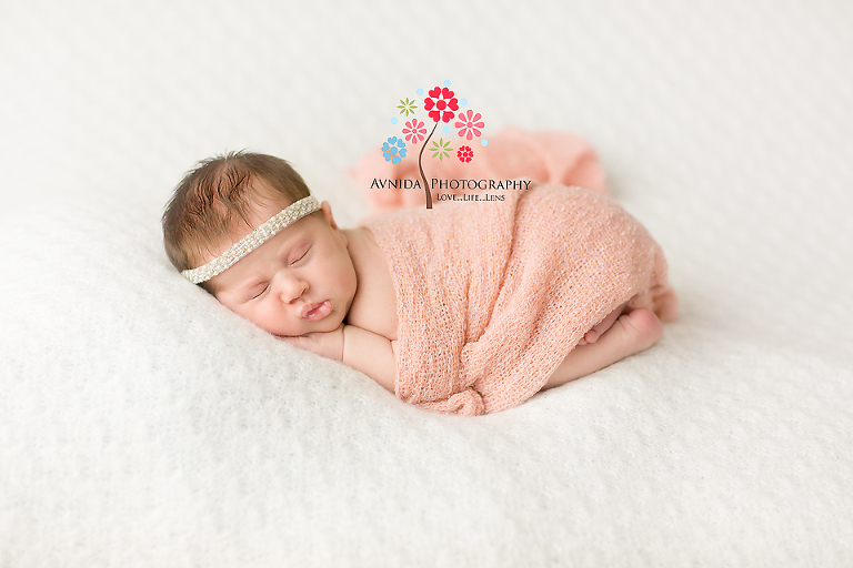 Branchburg newborn photography hillsborough nj loved in white and peach