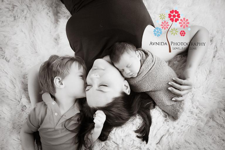 Branchburg Newborn Photography Hillsborough NJ-mom-with-her-babies