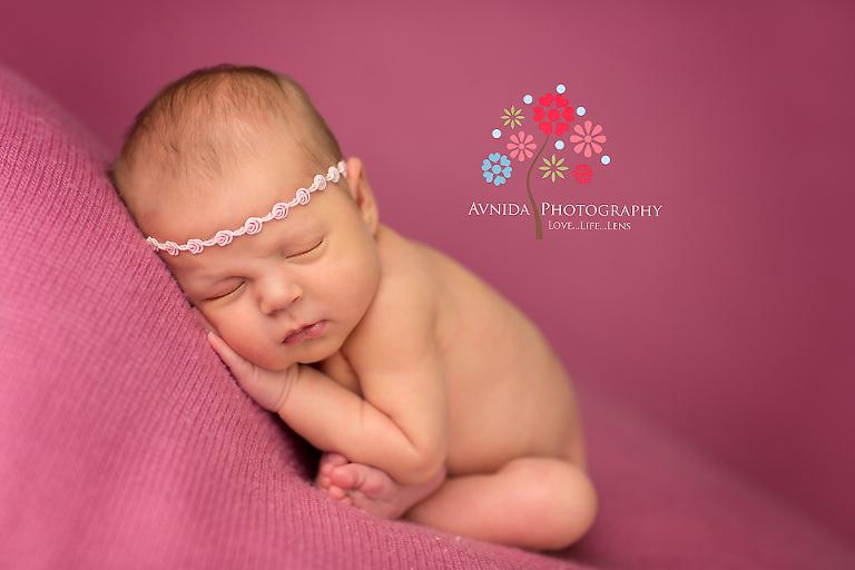 Bridgewater NJ Newborn Photographer: Baby Samantha, pretty in pink