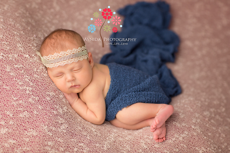 Bridgewater nj newborn photographer baby samantha beautiful in blue