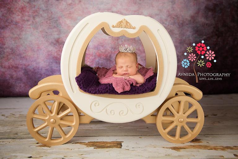 Bridgewater NJ Newborn Photographer: Baby Samantha, going to the ball in her chariot