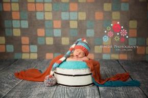 Newborn Photography Millburn NJ; all colorful