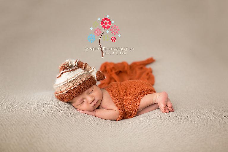 Newborn photography west orange nj in the orange cap