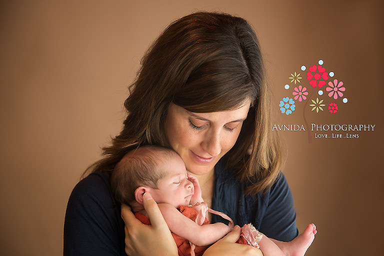Baby nora with mom belleville nj newborn photographer