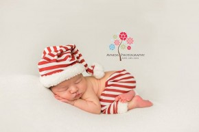 New Jersey Newborn Photographer-Candy cane
