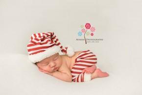 New Jersey Newborn Photographer-Candy cane