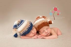 Wayne NJ newborn photographer - blue and brown