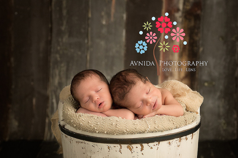 Wayne nj newborn photographer together in the bucket
