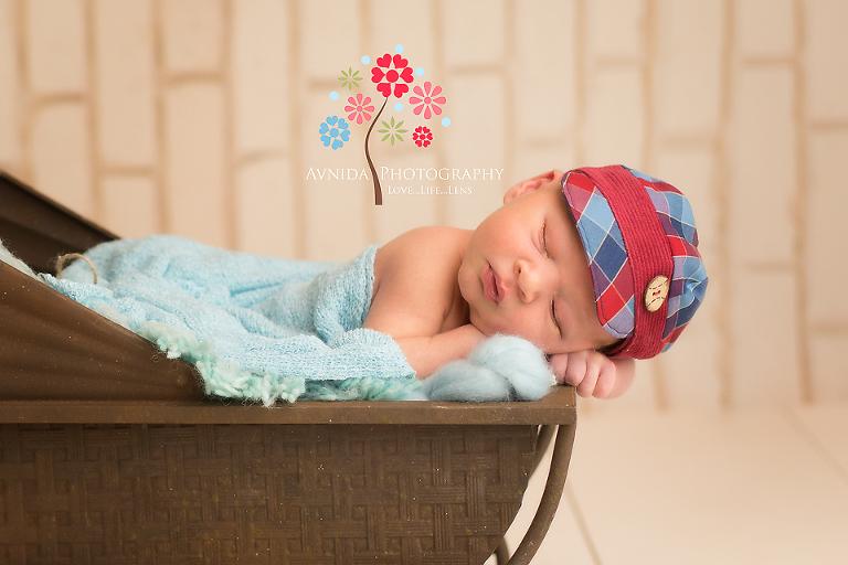 Newborn photographer princeton nj sleeping peacefully in the stroller