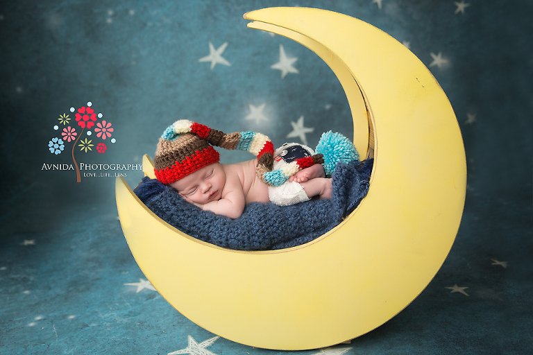 Newborn Photography Berkeley Heights NJ - Fly me to the moon - so colorful