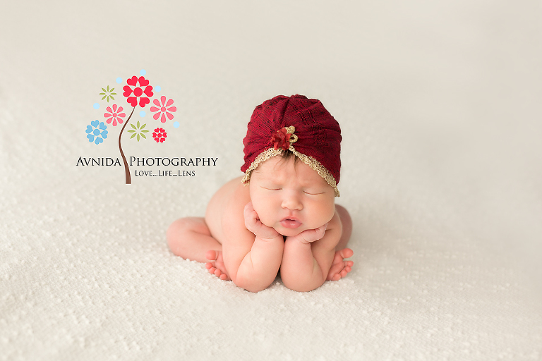 Newborn Photography Whippany NJ - The princess in her shabby chic fashion style