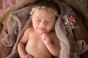 What a cute smiling expression from Mya during her Newborn Photography NJ Bergen County session