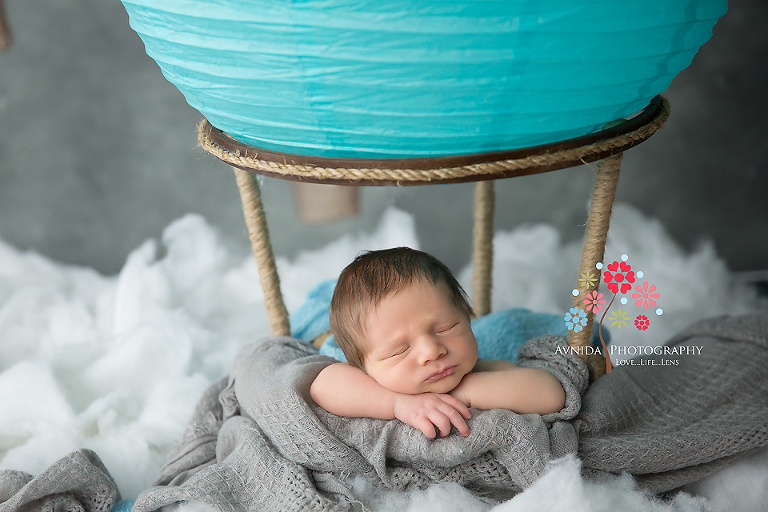 Baby Boy Newborn and a Hot Air Balloon: Endless possibilities.