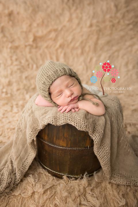 West orange nj newborn photographer in the little basket sleeping so quiet and calm