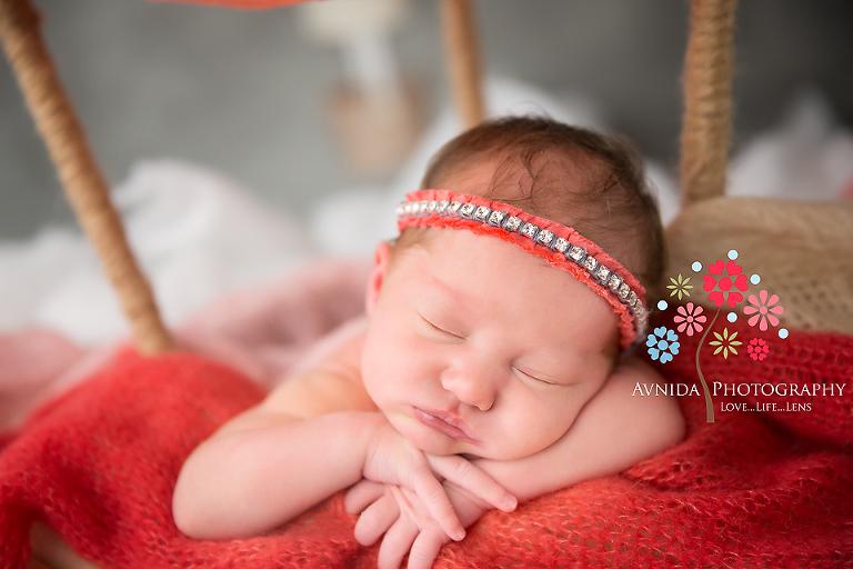 West orange nj newborn photographer a quick closeup of baby aeris as she makes her