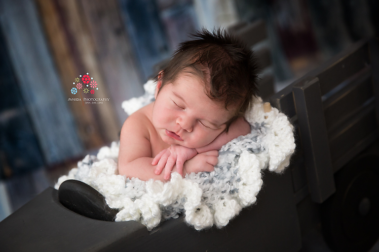 Newborn photographer somerset nj a stylish rug to go along with a rugged truck