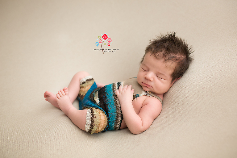 Newborn photographer somerset nj this is what we call the lounge pose after all