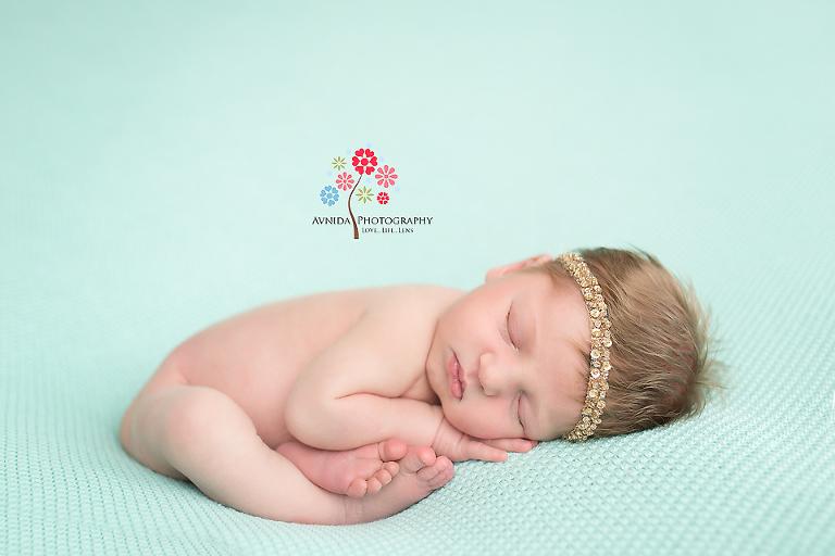 Newborn Photographer Alpine NJ- What a calm newborn baby, right?