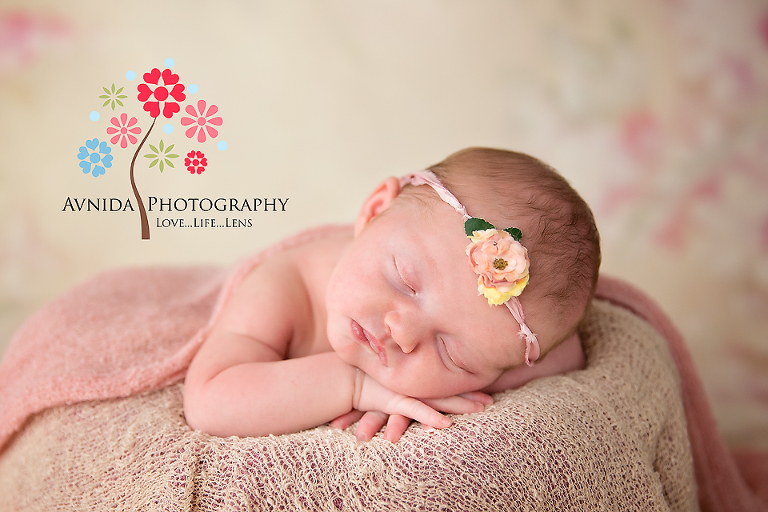 Newborn photography somerset county nj a close up to show you the flower in the