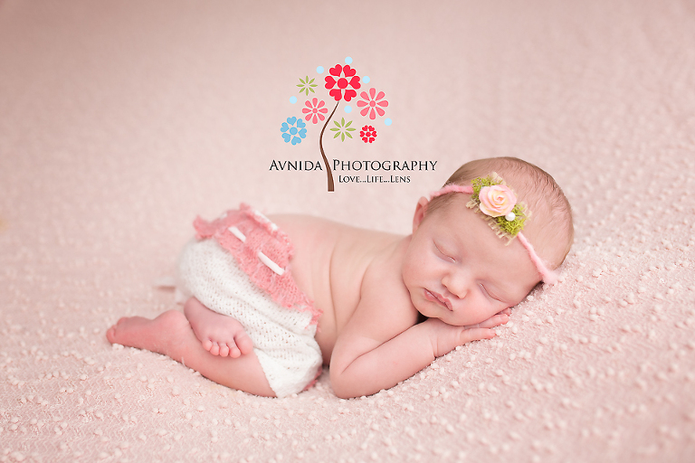 Newborn photography somerset county nj the little cute pants the flowery headband and baby