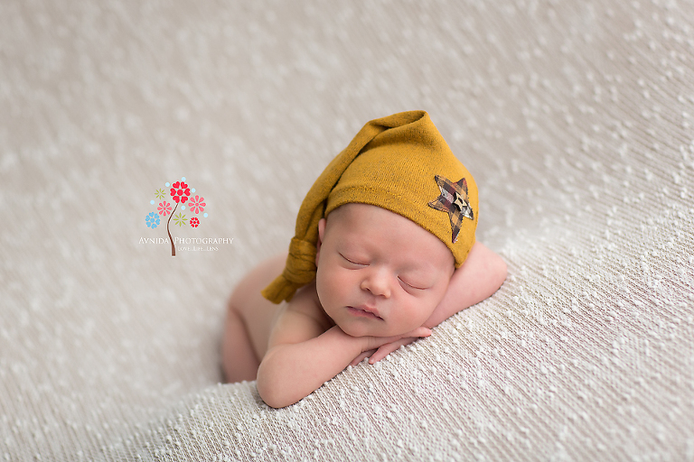 Newborn photography hillsborough nj i loved this expression owen looks calm relaxed and