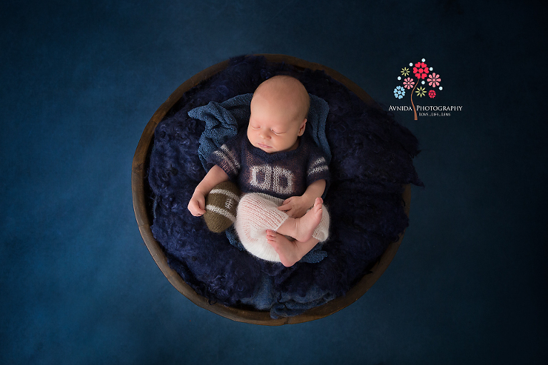 Newborn photography hillsborough nj when your dad is a ny giants fan you better learn
