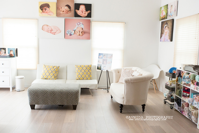 A good newborn photography studio has good seating space for the sleepless parents