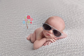 Basking Ridge Newborn Photography NJ - Did I not tell you that this little kid was cool as a cucumber - look at him in those cool grey sunglasses