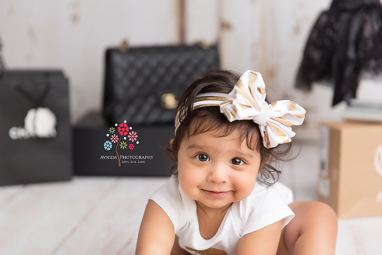 Cake Smash Photography Saddle River NJ - She is finally done and wants to get started with her cake smash - you can only keep a kid away from dessert for so long