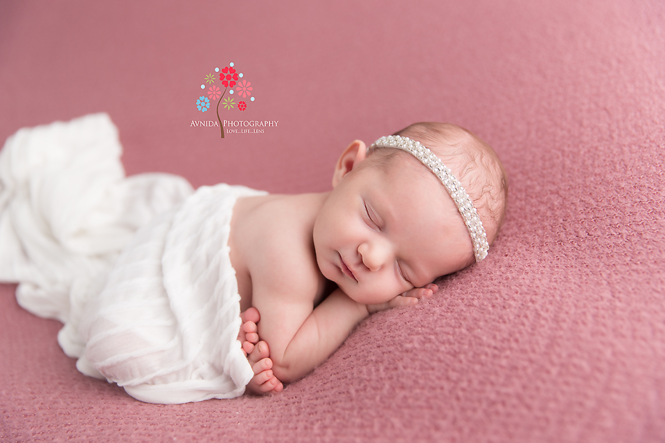 Newborn Photography Rumson NJ - Ah, we come to my favorite color for a newborn - White - nothing brings out the tenderness of a newborn baby