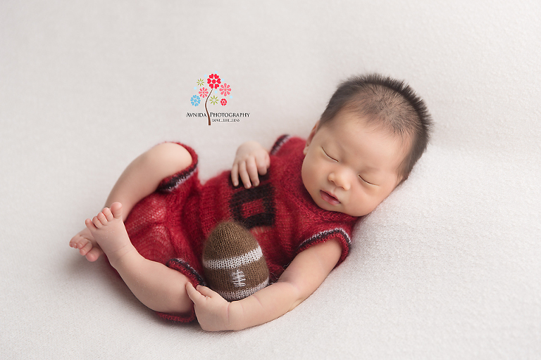 Newborn Photography Franklin Lakes NJ - any time is the perfect time for a game