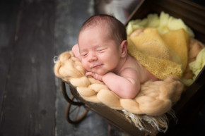 Newborn Photography Oldwick NJ - Forget about the frowns - on the contrary, we got several smiles from this cutie pie