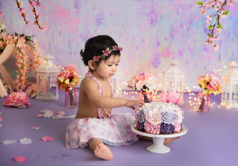 Cake Smash Photography in a Lavender Field Theme - by New Jersey's finest photographer