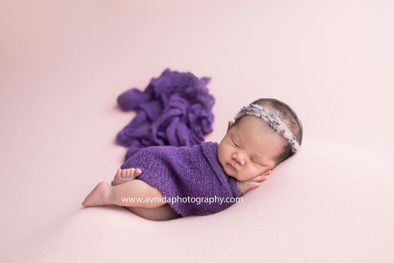 Newborn photography northern nj purple one of my favorite colors for a baby newborn